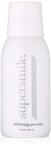 (Supersmile Whitening Pre-Rinse - Clinically Formulated Pre-Brush Dental Mouthwash, Cleans And Whitens Teeth in Hard-To-Reach Places - Fresh Breath - Anti-Germicidal - Alcohol-Free (5 Fl Oz) )