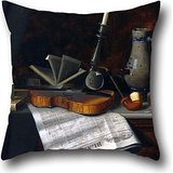 (Pillow Cases Of Oil Painting William Michael Harnett - Still Life With The Toledo Blade,for Indoor,monther,wife,lover,festival,dining Room 18 X 18 Inch / 45 By 45 Cm(twice Sides))