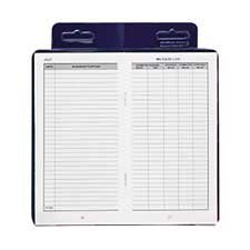 Dome(R) Auto Mileage Log, Vinyl Cover, 3 1/4in. x 6 1/4in., Blue by DomeSkin by DomeSkin