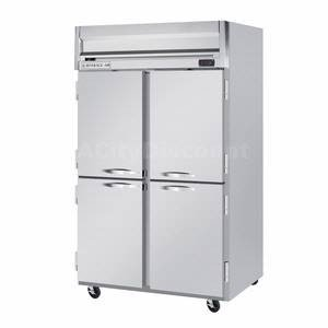 Beverage-Air HF2-1HS 52'' Horizon Series Two Section Solid Half Door Reach-In Freezer 49 cu.ft. capacity Stainless Steel Front Gray Painted Sides Aluminum