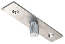 CRL Brushed Stainless Top Center-Hung Free Swing Pivot - 1NT401