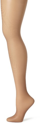 Hanes Women's Control Top Sheer Toe Silk Reflections Panty Hose, Town Taupe, C/D