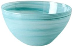Shiraleah Small Turquoise Polished Alabaster Round Bowl ()