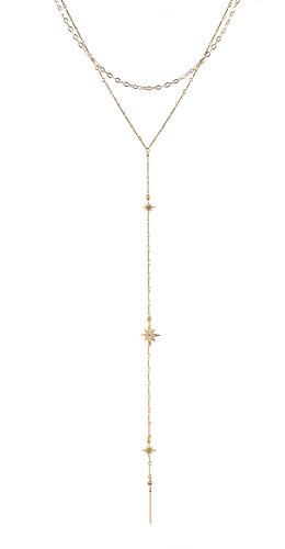 Lucky Star Jewels Women's Gold Starry Sky Necklace Lucky Star Jewels