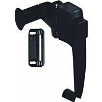 Locking Handle Strike Plate - National Hardware N178-350 V1316 Pushbutton Latch in Black
