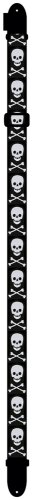 Perri's Leathers Polyester Skull with Bones