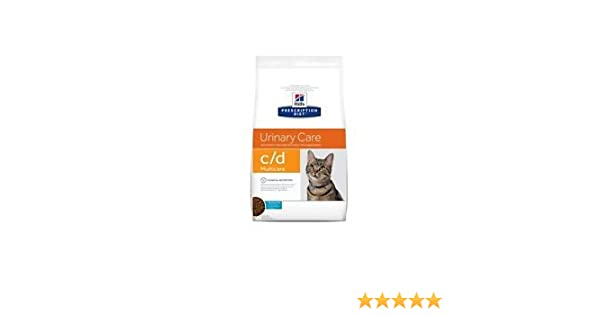 Hill S Prescription Diet C/D Urinary Care al pescado oceánico para la salud de las vías urinarias del gato, 5 kg: Amazon.es: Productos para mascotas