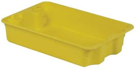 LEWISBins+ 500 lb Capacity, Heavy Duty Stack and Nest Container, Yellow SN2214-5