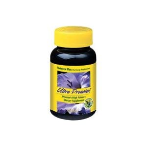 Natures Plus Ultra Prenatal Multivitamin 800 mcg Folate, 90 Vegetarian Tablets Prenatal Vitamin & Mineral Supplement with Iron, Iodine & Calcium Gluten Free 45 Servings