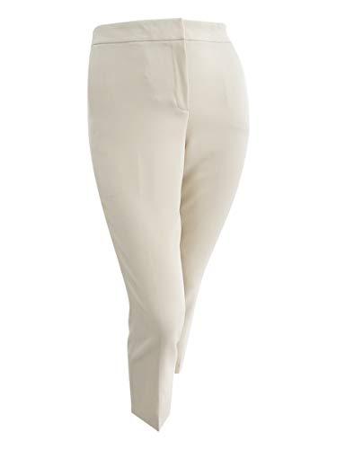 Kasper Women's Stretch Crepe Pant, Sand 14 from Kasper