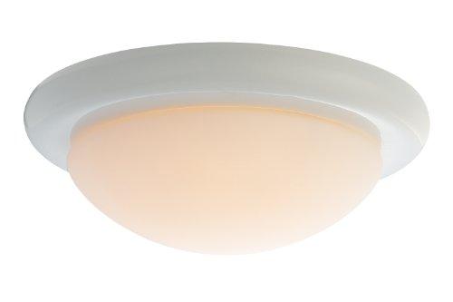 Monte Carlo MC18WH-B Matte Opal 1-Light Ceiling Fan Kit, White Finish