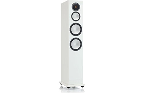 Monitor Audio Silver 10 Three-Way Tower Speaker Each (High Gloss White Lacquer) by Monitor Audio
