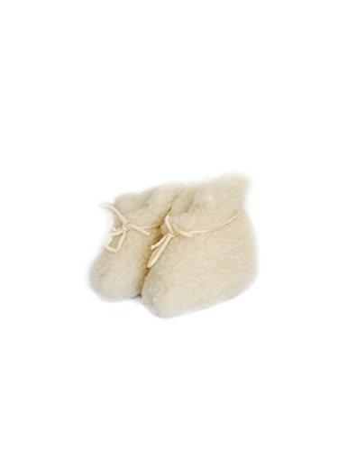 Karbaro - Patucos de Lana para niña Blanco - blanco