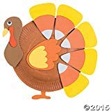 Oriental Trading Paper Plate Candy Corn Turkey Craft Kit ()