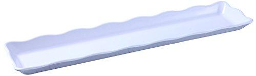 Tray Melamine Display - Yanco DC-6021W Deli Collection Scallop Edged Display Tray, 21