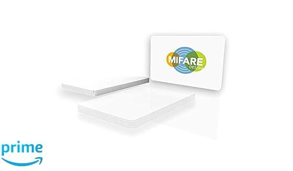 NXP MIFARE DESFire EV2 4K, blanco brillante, tarjeta de PVC, color ...