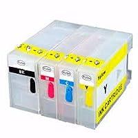 GENERICOS Kit 4 Cartuchos Rellenables para Uso en Pgi1100 Mb2010 Mb2110 MB 2710 duracion XL Black Cyan Magenta Yellow