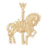 CleverEve 14K Gold Charm Carousels 3.1 Grams