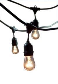 Outdoor String Lights With 15 E26 Sockets By Deneve : Bulbrite String15/E26-A19KT Nostalgic Edison Outdoor, Garden, Patio, Wedding, Party, Holiday ...