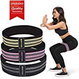 BEYYON Resistance Bands for Legs and Butt 3 Pack Booty Bands Exercise Bands Resistance Bands Legs Workout Hip Bands Resistance Legs and Butt exercize Bands