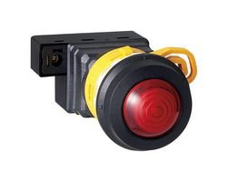 LED Panel Mount Indicator, Red, 24 V, 30 mm, IP65, NEMA 4X