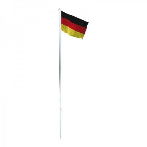 Alu Fahnenmast mit Deutschlandflagge 6,00 m