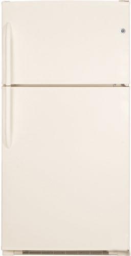 Bisque Top Freezer Refrigerator - GE GTE21GTHCC Top Freezer Refrigerator