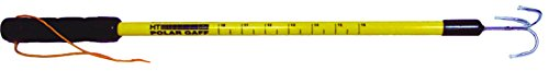 HT Enterprises Polar Gaff with Treble Hook and Ruler, Yellow, 24-Inch