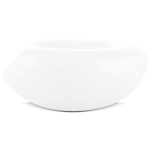 Infinity Bowl by Uncluttered Designs: Multipurpose Decorative Centerpiece for Display, Serving, Fruit, Candy, Nuts, Produce, Bread & Organizing Your Kitchen Bathroom & Bedroom (Big, White)