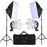 (Andoer Photography Lighghting kit Professional Photo Studio Equipment with 2pcs 20