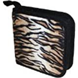 CD/DVD Wallet - Faux Tiger Fur Case Holds 24