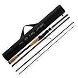 SeaKnight YASHA Fishing Rod 7Ft 4 Sections M Power 12-25lbs Carbon Fiber Spinning Casting Fishing Rod Travel Rod with Rod Bag (Spin, 2.7M/9Ft)