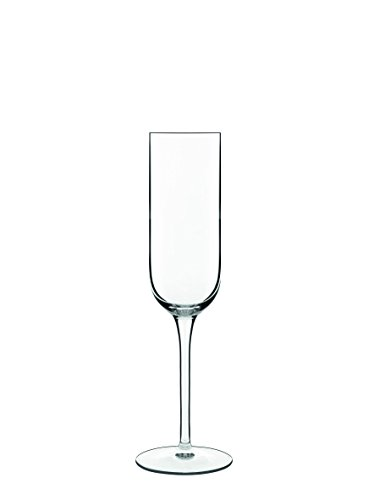 Luigi Bormioli Sublime Champagne Flute Glasses (Set of 4), 7 oz, (Clear 7 Ounce Flute)