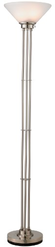 Adesso 5130-22 Senator Floor Lamp, Satin Steel