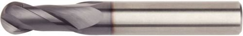 WIDIA Hanita 40010800T020 VariMill 4001 GP Roughing/Finishing End Mill, Ball Nose, 8 mm Cutting Diameter, Carbide, Uncoated, RH Cut, Straight Shank, 2FL by WIDIA