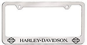 license plate frame harley davidson plain bar shield logo bottom