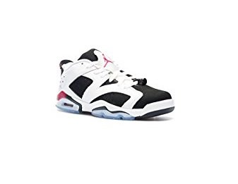 cacb603d52b Galleon - NIKE Air Jordan 6 Retro Low GG 768878-107 White Fuchsia Black Kids  Basketball Shoes (5.5)