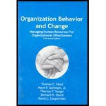 Organizational Behavior and Change, Head, Thomas C., 1588745376