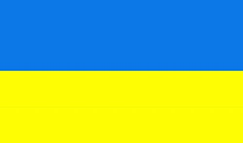 Aimto 3x5 ft Ukraine Flag - bright colors and anti-fading materials - polyester canvas and brass buttonhole - quality assurance