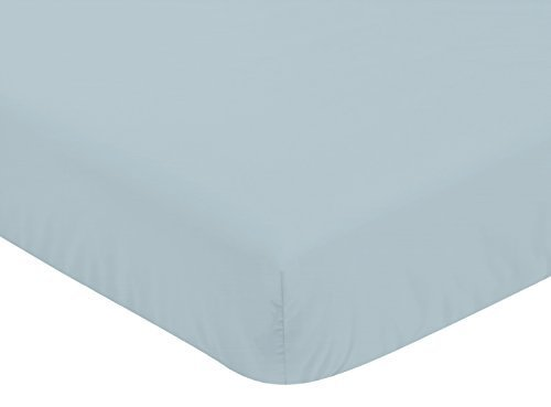 Sweet Jojo Designs Slate Blue Baby or Toddler Fitted Crib Sh