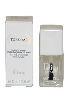 Top Coat Nail Enamel for Women by Christian Dior, 0.33 Ounce