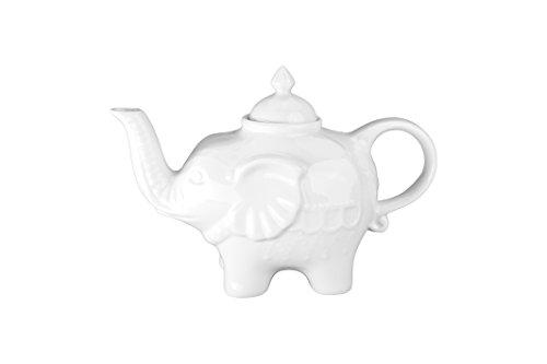 - BIA Cordon Bleu 28-Ounce Elephant Teapot, White