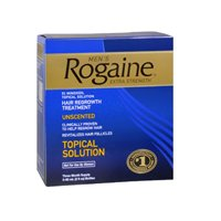 Price comparison product image Rogaine Rogaine Mens Extra Strength Hair Regrowth Treatment Unscented,  Unscented 3 X 2 oz (Pack of 6)