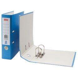 Archivadores de anillas (mecanismo de palanca, tamaño A4, color azul: Amazon.es: Oficina y papelería