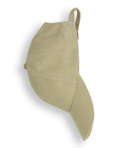 Anvil Solid Brushed Twill Cap (Khaki) (ONE)