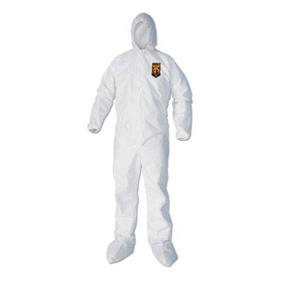 Kimberly-Clark 44336 KleenGuard A40 Coveralls with Hood/Boots, White, 3XL (Pack of 25) by Kimberly-Clark (Image #2)