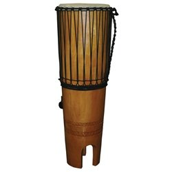 X8 Drums X8-NGOMA-AW Traditional Ngoma Ashiko Drum with Beaters and Strap