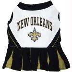 Pets First New Orleans Saints Pet Cheerleader Uniform Extra Small (Saints Cheerleader Costume)