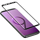 Galaxy S9 Screen Protector, ALCLAP Galaxy S9 Tempered Glass Screen Protector 3D Curved Full Coverage Ultra Clear High Definition Screen Film Anti-Bubble Screen Protector for Samsung Galaxy S9-Black