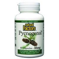 Natural Factors - Pycnogenol Pine Bark 25 mg - C - 60 by Natural Factors